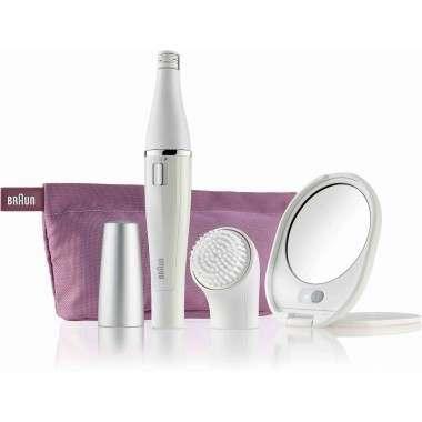 Braun 830 Silk-épil Face Premium Edition - Facial Cleansing Brush and Facial Epilator