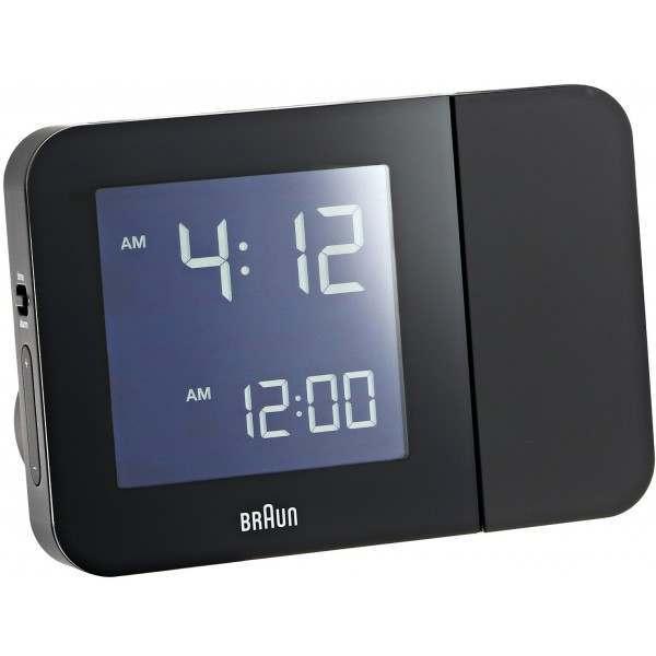 braun bnc015bkuk rc black digital radio controlled projection alarm clock. Black Bedroom Furniture Sets. Home Design Ideas