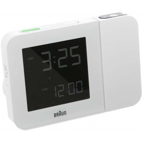braun bnc015whuk rc white digital radio controlled projection alarm clock. Black Bedroom Furniture Sets. Home Design Ideas
