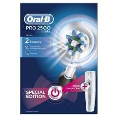 Oral-B D501.513.2X Pro 2 2500N Li-ION Black CrossAction (includes travel case) Electric Toothbrush