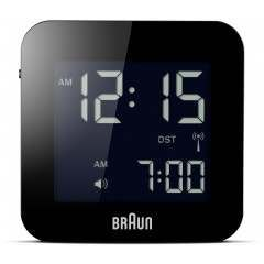 Braun BNC008 Black Global Radio Controlled Travel Alarm Clock
