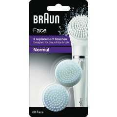 Braun 80 Face Normal 2 Pack of Brush