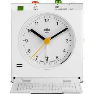 Braun BNC005WHWH White Square (with lid) Alarm Clock
